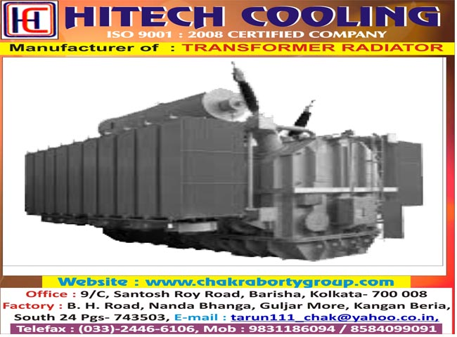 CHAKRABORTY ELECTRICALS PVT LTD  TRANSFORMER RADIATOR in Kolkata